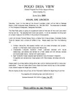 June – July 2009