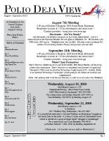 August – September 2010