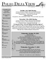 October – November 2010
