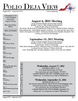 August – September 2011