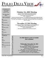 October – November 2011