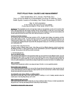 Post-Polio Pain: Causes and Management, Part 1
