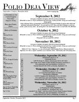 September – November 2012