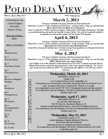 March – May 2013
