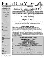 June – August 2013